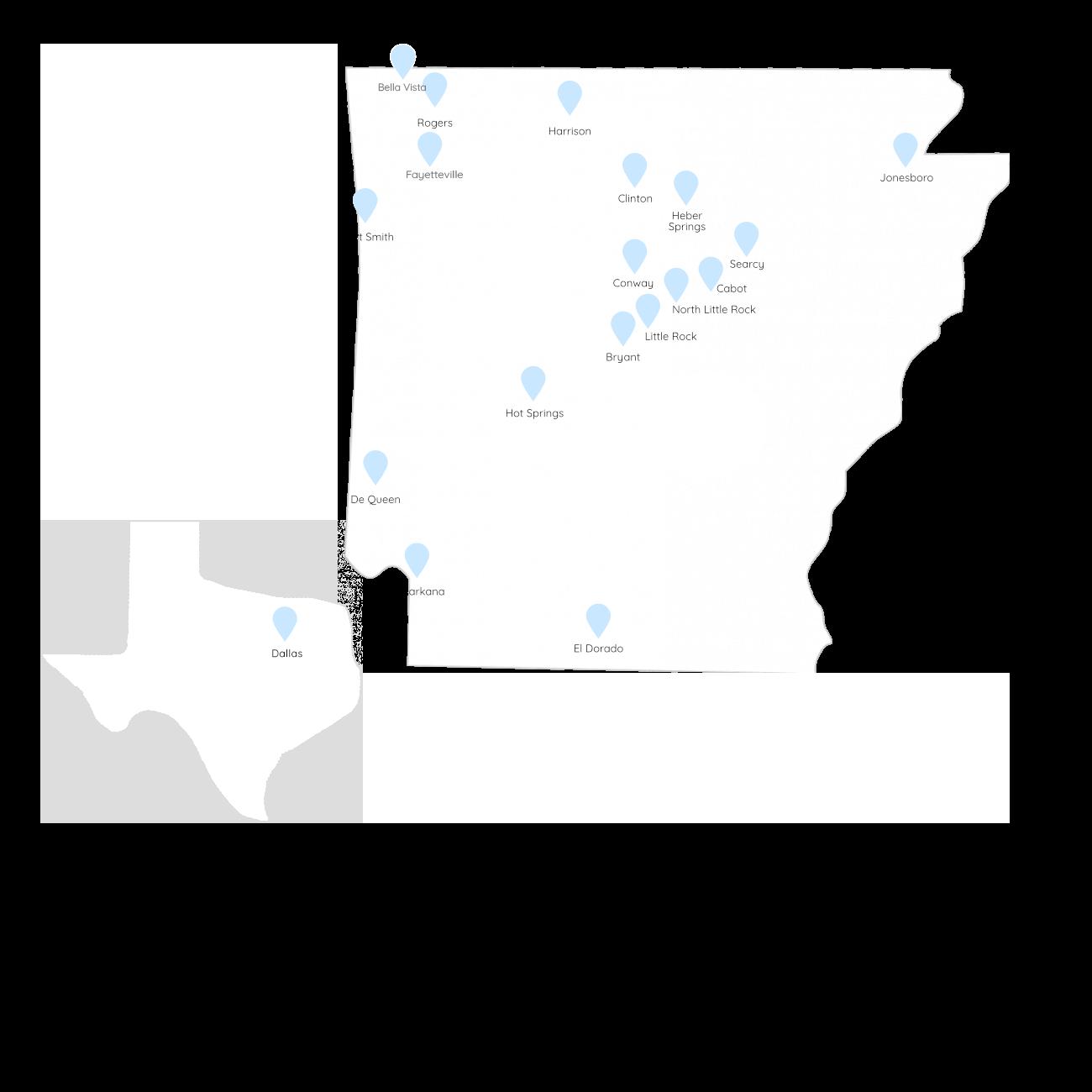 arkansas family therapy map